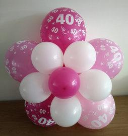 Ballonnenbloem DIY, 40 jaar roze