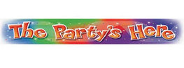 Banner 'The Party's Here'