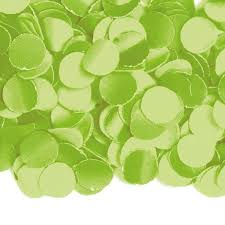 Groen:limegroen Confetti luxe, 100 gram