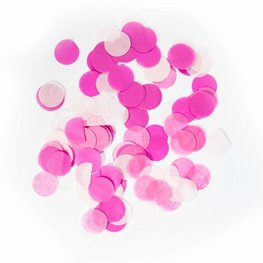 Roze confetti XL, 14 gram