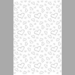 Witte Loper met zilveren hartjes 4,5 x 0,6 meter
