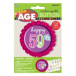 Button met leeftijd, pink
