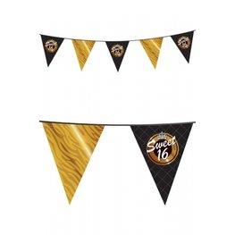 Sweet Sixteen Vlaggenlijn, zwart/goud