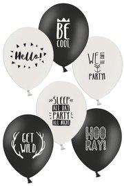 Party Ballonnen div. teksten, 6 stuks