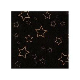 Zwart met sterren VIP servetten, 12 stuks