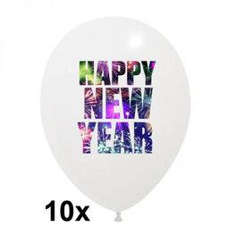 Happy New Year ballonnen, 10 stuks