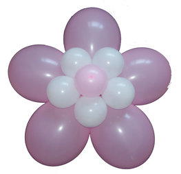 Ballonnenbloem DIY, babyroze