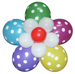 Ballonnenbloem DIY, polka dots