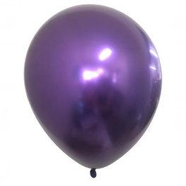 Paars Chrome ballon (28cm)