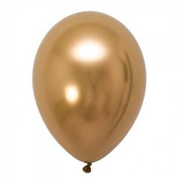 Goud Chrome ballon (28cm)
