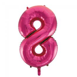 8 Folieballon cijfer, pink