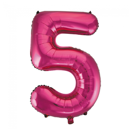 5 Folieballon cijfer, pink