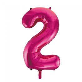 2 Folieballon cijfer, pink