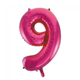 9 Folieballon cijfer, pink