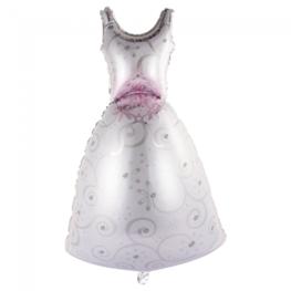 Bruid / trouwjurk folieballon, 118 cm