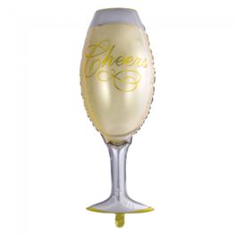 Champagne glas folieballon, 109 cm