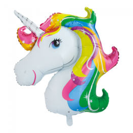 Unicorn XL folieballon, 126 cm