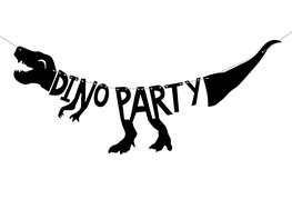 Dino party banner, 90 cm
