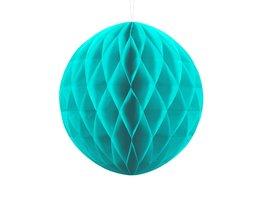 Turquoise Honeycomb bal, 30cm