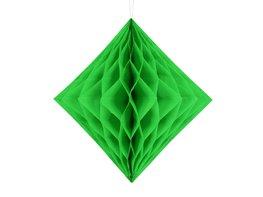 Groen Honeycomb diamant, 30cm