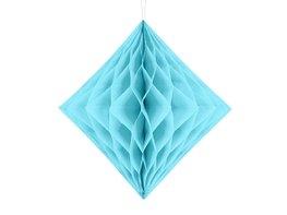 Blauw:Lichtblauw Honeycomb diamant, 30cm