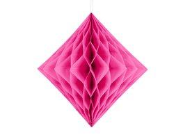 Roze:Pink Honeycomb diamant, 30cm