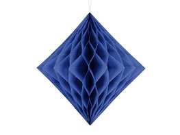Blauw:Donkerblauw Honeycomb diamant, 30cm