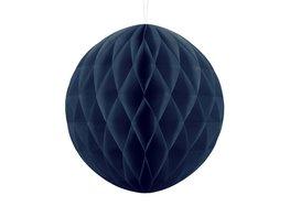 Blauw:donkerblauw Honeycomb bal, 30cm