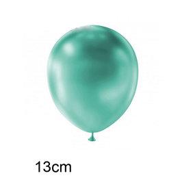 Aqua Metallic kleine ballon (13cm)