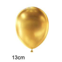 Goud Metallic kleine Ballon (13cm)