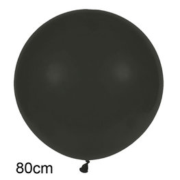 Zwart XL Ballon, 80cm