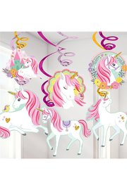 Unicorn hangdecoratie, 12 stuks