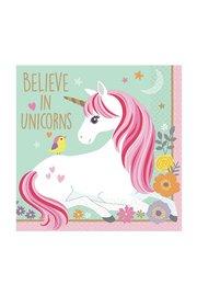 Unicorn servetten, 16 stuks, 25cm