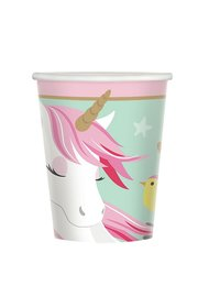 Unicorn bekers, 8 stuks, 266ml