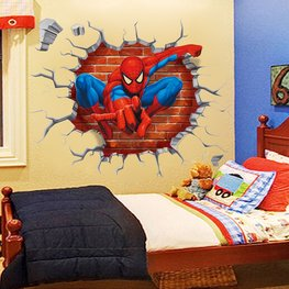 Muursticker Spiderman Cracked Wall