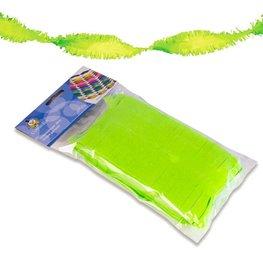 Groen Fluor Guirlande crepe slinger, 6 meter