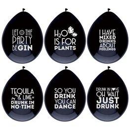 Drink quotes Ballonnen, 6 stuks