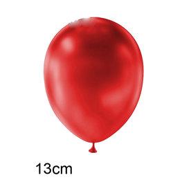 Rood (donker) Metallic kleine ballon (13cm)