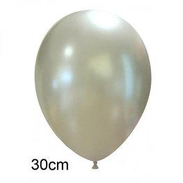 Zilver Metallic ballon (30cm)