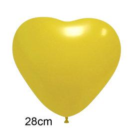 Geel Hart Ballon (28cm)