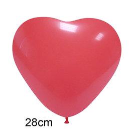 Rood Hart Ballon (28cm)