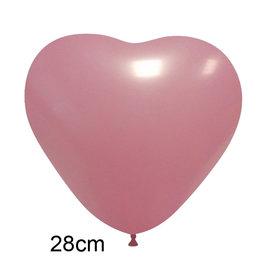 Roze Hart Ballon (28cm)