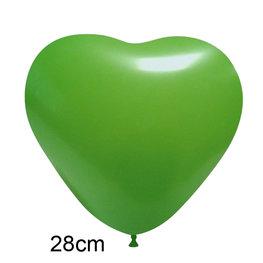 Groen Hart Ballon (28cm)