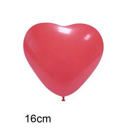 Rood Hart Ballon  klein (16cm)