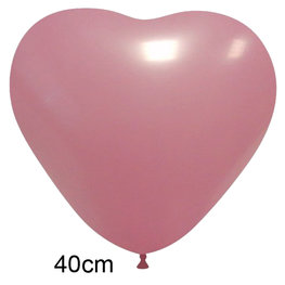 Roze Hart Ballon groot (40 cm)