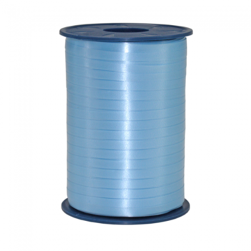 Blauw:Lichtblauw Krullint, 5 mm, rol 500 m