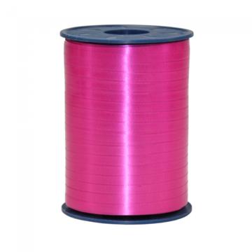 Roze:Donkerroze Krullint, 5 mm, rol 500 m