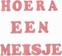 Foam stickers Hoera een meisje roze