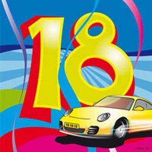 18 jaar, Swirl Servetten, 20 stuks