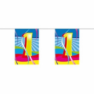1 jaar, Mini vlaggenlijn Swirls, 4 meter